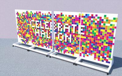 Pixel Art Wall: The start of something BIG in Halton